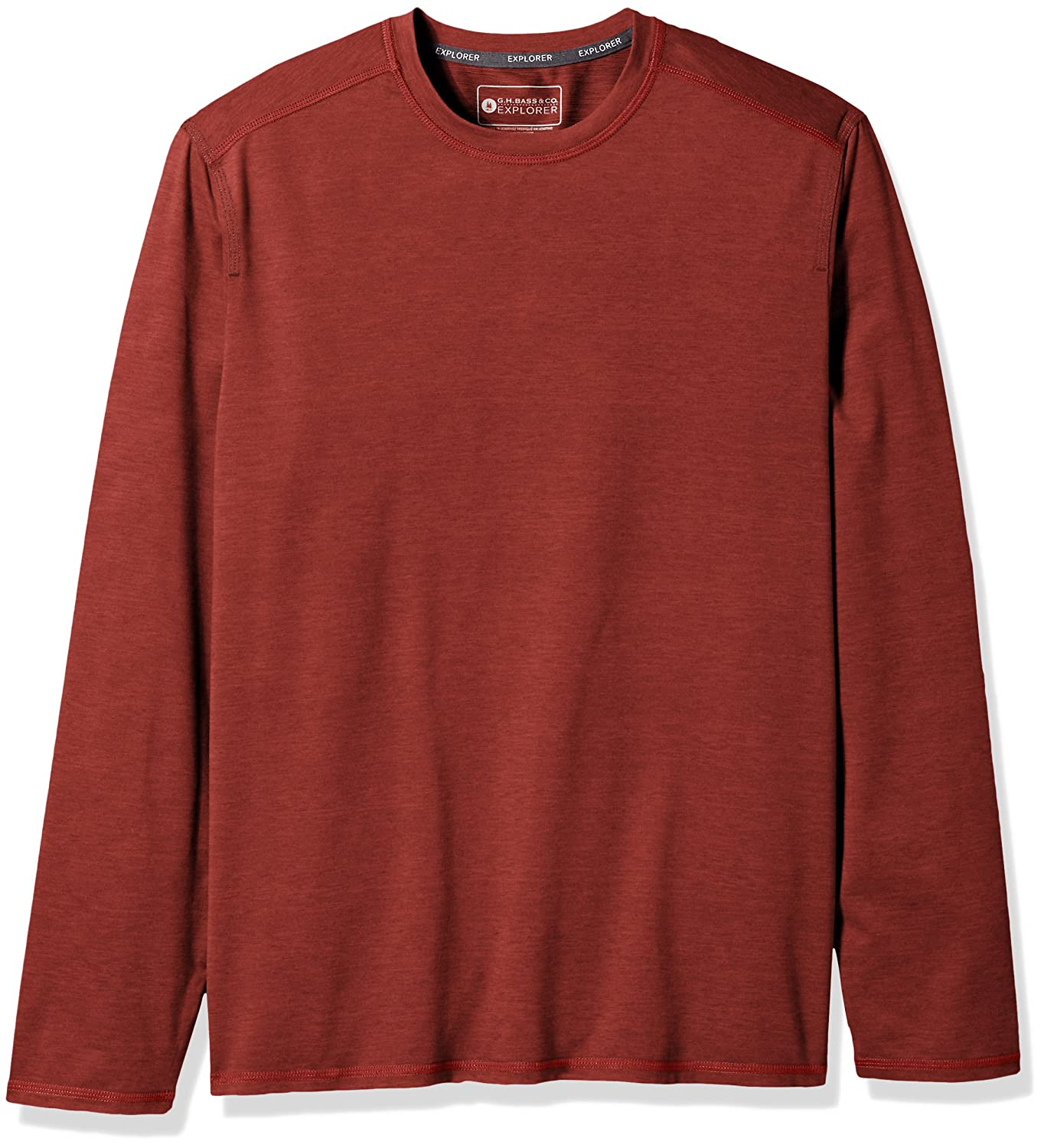 G.H. Bass & Co. Mens Performance Space Dyed Long Sleeve Jersey Crew Arrow Men's Tops 5273270