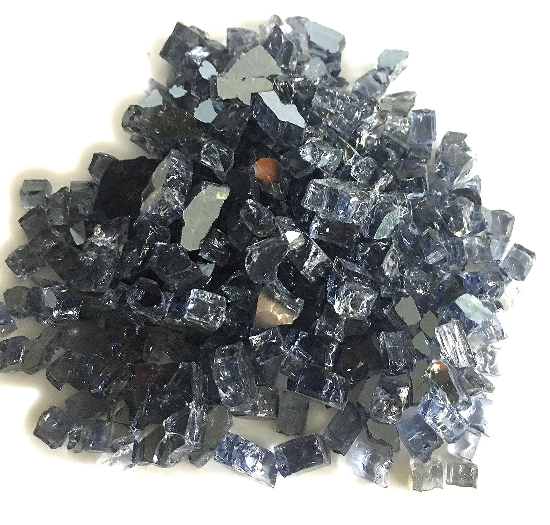 ELEMENT Gray Reflective 1/4 Fire Glass 10 Lbs. Element Fire Glass