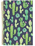 """Bloom Daily Planners 2018-2019 Academic Day Planner - Monthly Weekly Datebook/Calendar Book - Inspirational Dated Agenda Organizer - (August 2018 - July 2019) - 6"""" x 8.25"""" - Navy Cacti"""