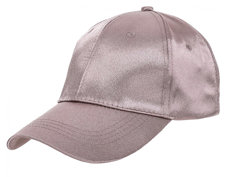 Kappe Basecap für Damen Baseballkappe Baseball Cap Mütze aus Satin von ESTABLISHED SEVENTY9, Farbe:Altrosa 902
