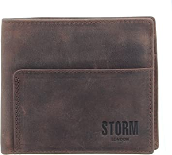 STORM London ZAYDEN Leather Wallet with RFID Blocking Technology Black