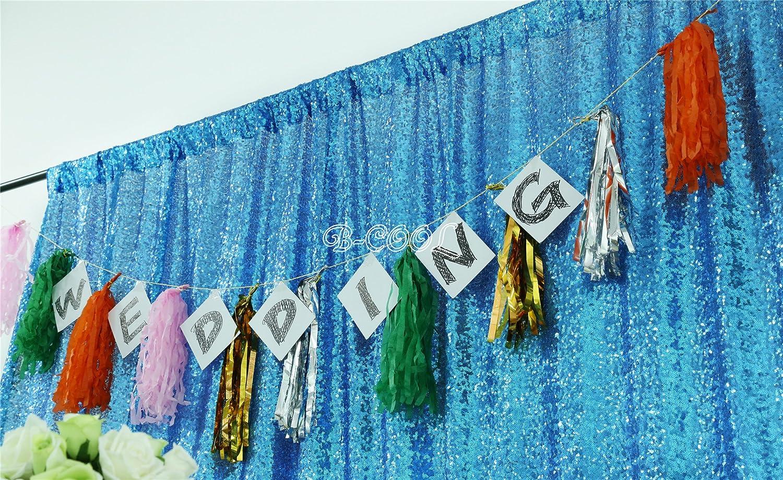 B Cool 10 Ftx10ft Rechteckig Geburtstag Party Hintergrund Tuch Hintergrund Steht Für Partys Party Pailletten Hintergrund Küche Haushalt