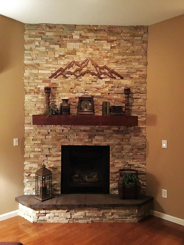 Amazon Com Aspen Highlands Buttermilk Steel Wall Art Brown Copper Rust Colored Patina Colorado Artist Artwork Handmade
