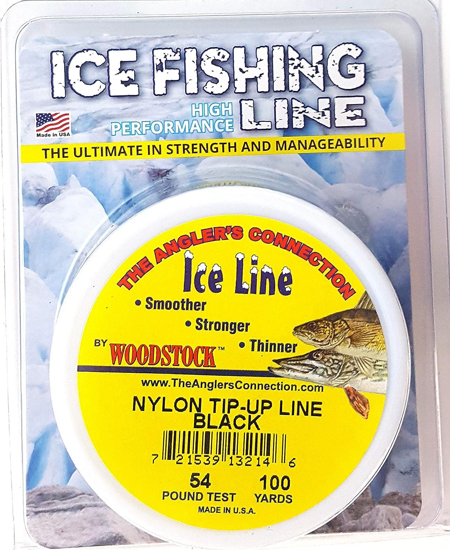 Woodstock Ice Line 100 Yard Spool 54 Pound Nylon Tip-Up Line Black