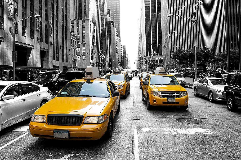 Papier Peint Photo INTISS/É-MANHATTAN CARS I-250x186 cm-5 l/és- -P/ÂTE Inclus-EASYINSTALL-PREMIUM-Custom Automobile Tuning Voiture Sport New York Pont de Brooklyn Nuit Skyline Rivi/ère Mer 16413