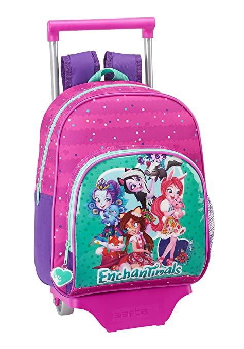 Safta Mochila Infantil Enchantimals Oficial Con Carro Safta 125x95mm