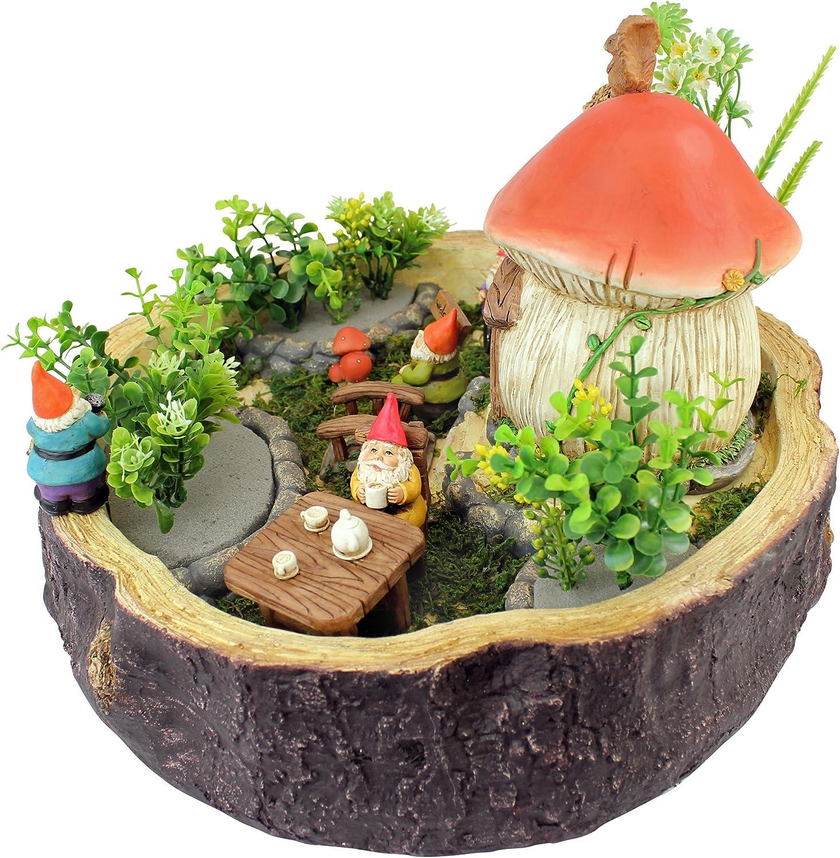 Design Toscano AL59731 Coffee Cup Cafe Garden Gnome Statue Full Color Realistic