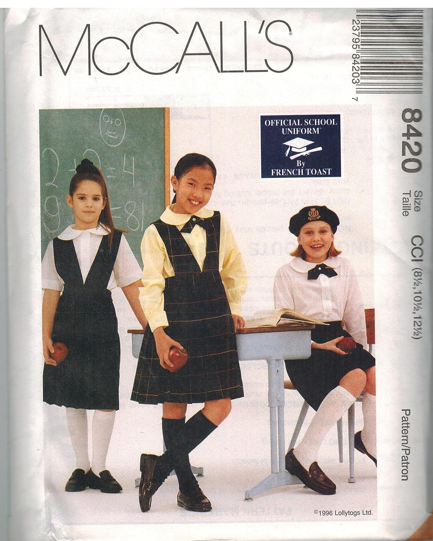 8420 McCalls patrón de costura para suéter falda blusa corbata ...