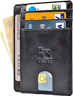 Portafoglio Uomo Piccolo Sottile - Mini Porta Carte Credito Uomo Pelle con  Protezione RFID e Tasca ef5c23407bb