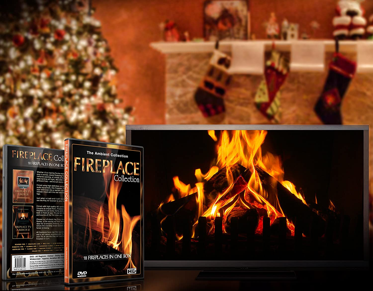 amazon com fire 2 dvd box set fireplace collection 2013 with a