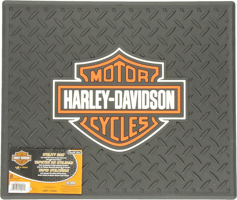 PlastiColor 1002 Large Harley-Davidson Logo Molded 14 x 17 Utility Mat