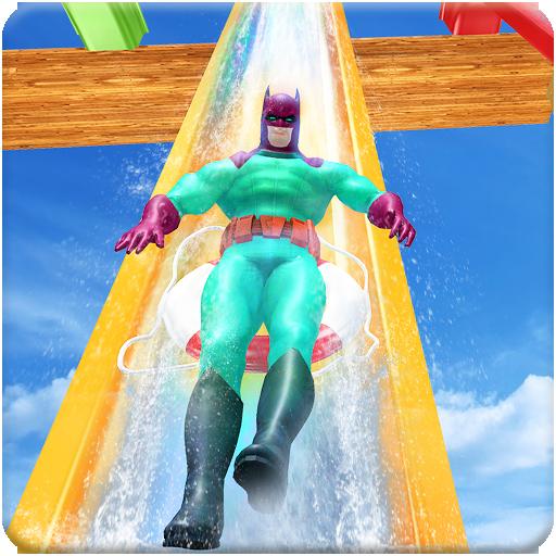 Real Water Slide Amusement Park: Superhero Hangout ()