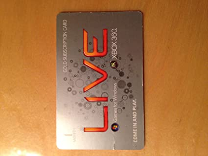 Amazon.com: Xbox Live One Month Gold Membership Voucher Card ...