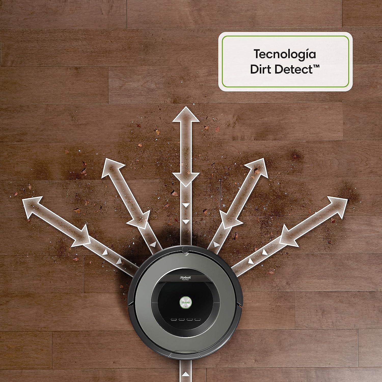para Suelos Duros y Alfombras Robot Aspirador /Óptimo para Pelo de Mascotas Potencia Succi/ón 5 Veces Superior y Cepillos de Goma Antienredos Programable Sensores Dirt Detect iRobot Roomba 865
