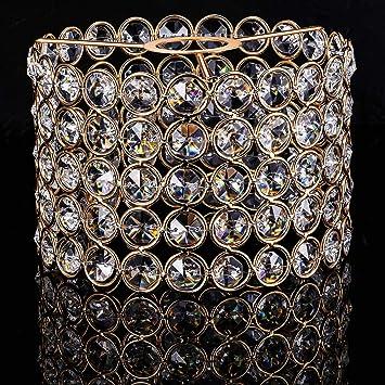 Pantalla de Lámpara de Cristal Dorado Pantalla de Lámpara ...