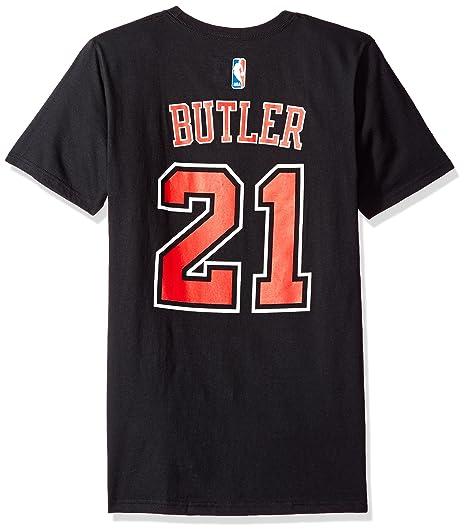 Adidas Jimmy Butler Chicago Bulls # 21 DE la NBA Juventud Jugador Camiseta, Negro