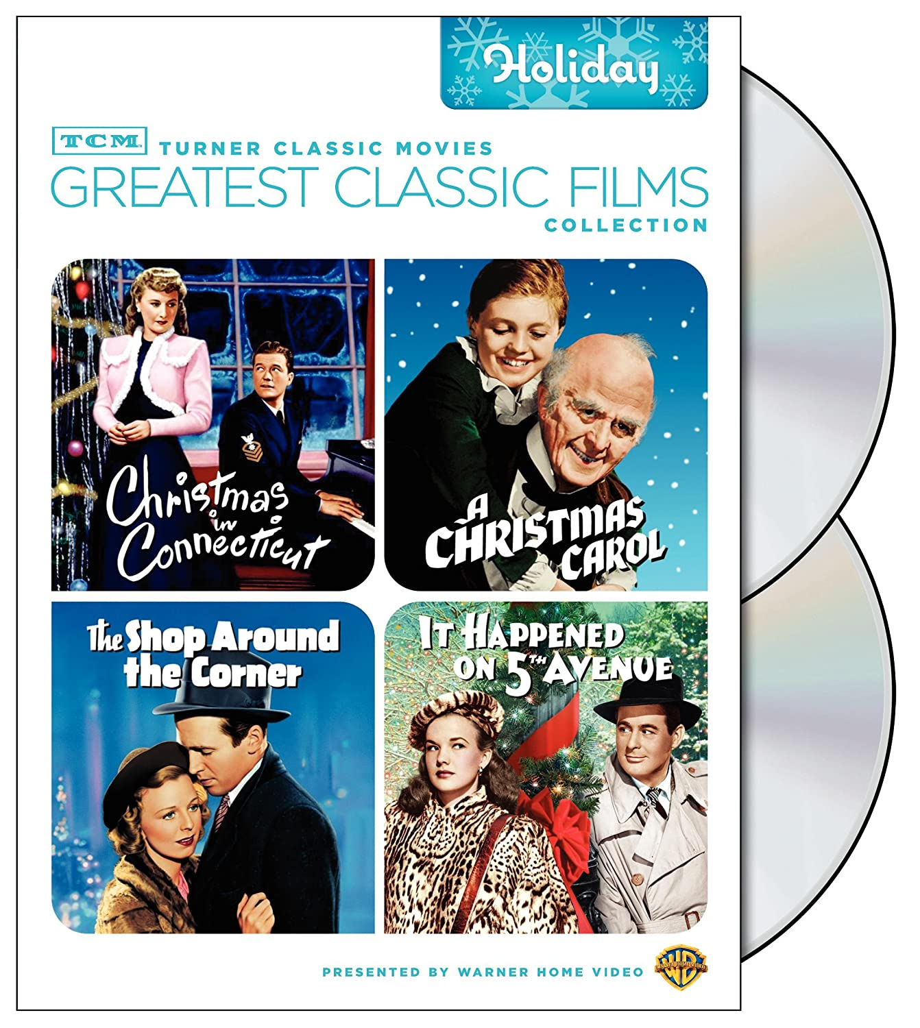 TCM Greatest Classic Films Collection: Holiday (Christmas in Connecticut / A Christmas Carol 1938 / The Shop Around the Corner / It Happened on 5th Avenue)