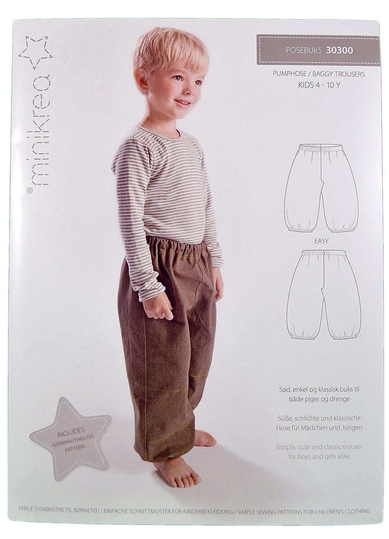 Schnittmuster Pumphose Hose für Kinder/Gr. 104-146cm/3X0300: Amazon ...