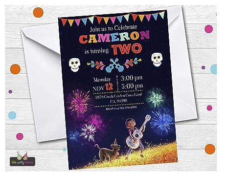 14 Disney Coco Fiesta De Cumpleaños Invitaciones Disney Coco