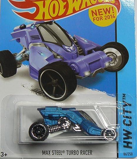 Hot Wheels HW City - 86/250 - Max Steel Turbo Racer - Blue