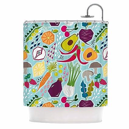 Amazon KESS InHouse Agnes Schugardt Garden Song Blue Food