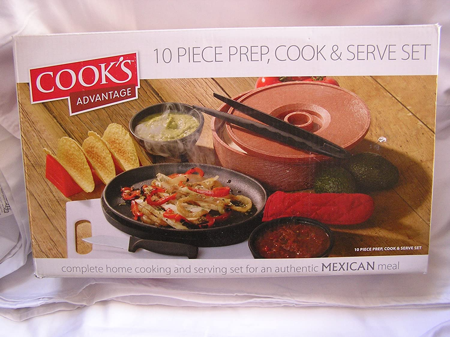 com cook s advantage pc prep cook serve set for com cook s advantage 10 pc prep cook serve set for mexican food meal kitchen dining
