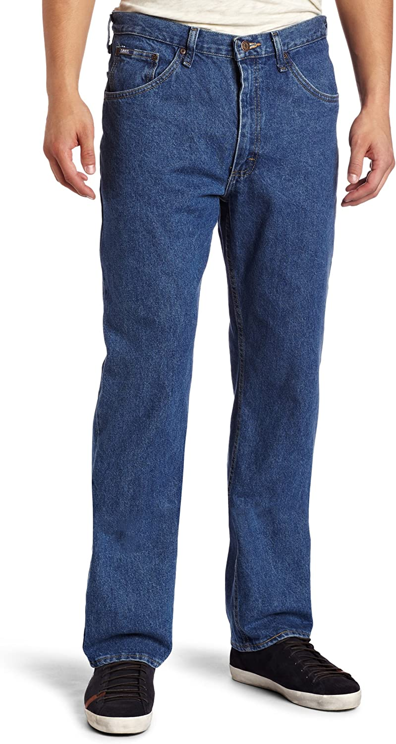 Lee Men's Regular Fit Straight Leg Jean at  Men's Clothing store