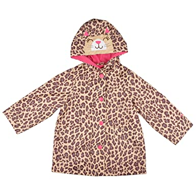 3f29fd1cc59b Amazon.com  Carter s Girls Hooded Cheetah Print Rain Coat  Infant ...