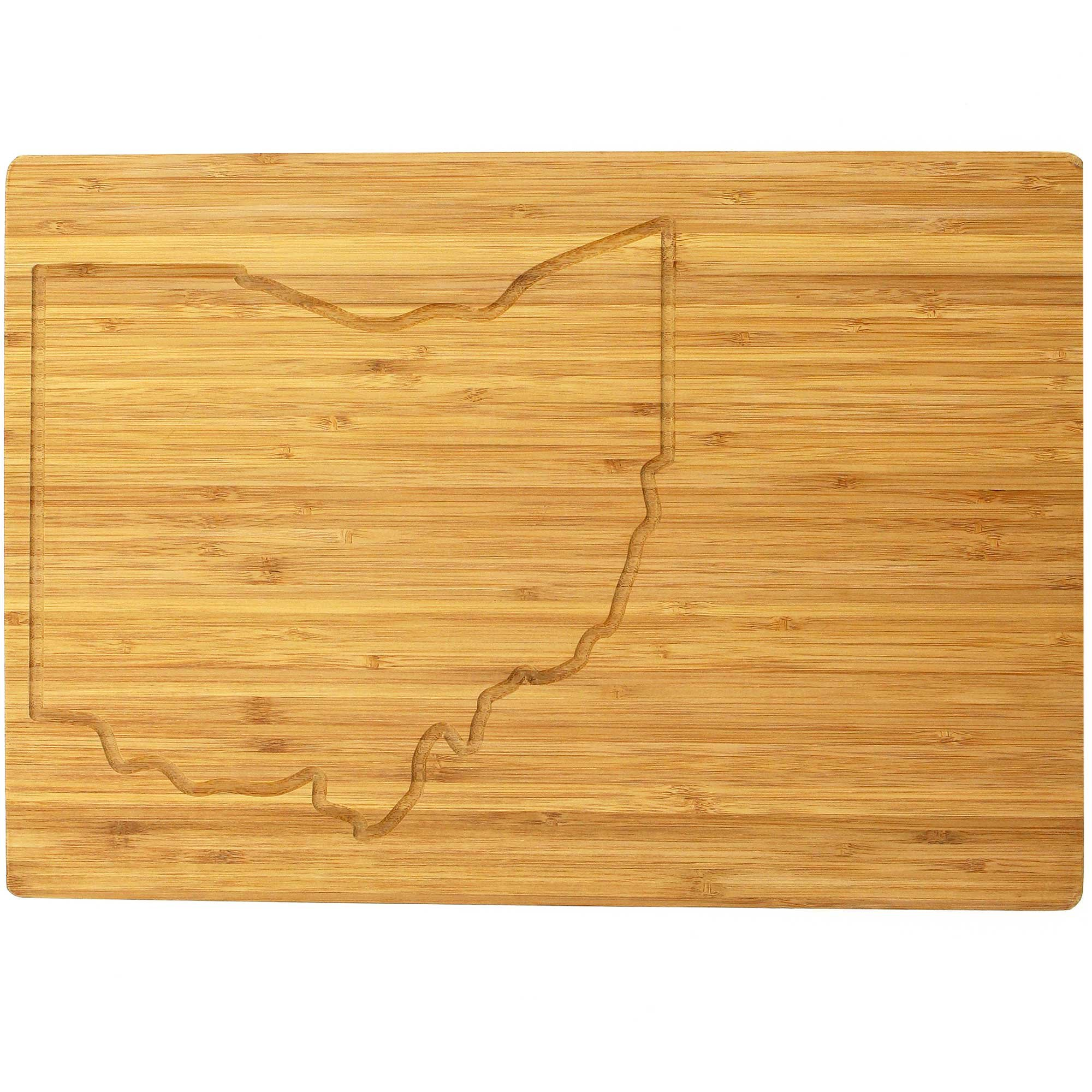 BambooMN - Large Ohio Grooved Image Premium Bamboo Cutting Board - 17'' x 11.5'' x .75'' - 10 Pieces by BambooMN
