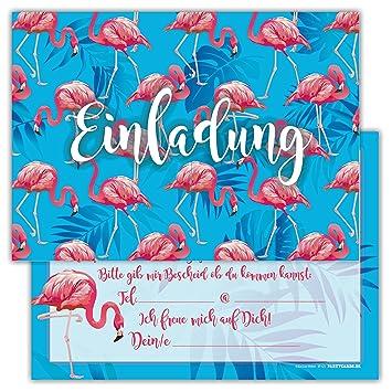12 Flamingo Einladungskarten Set Kindergeburtstag Pink Rosa Party Einladung  Geburtstag Junge Party Mädchen Kinder Feier