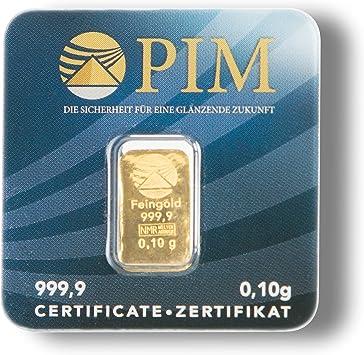 Pim Goldbarren 0,10 Gramm Nadir Goldbarren 0,1g