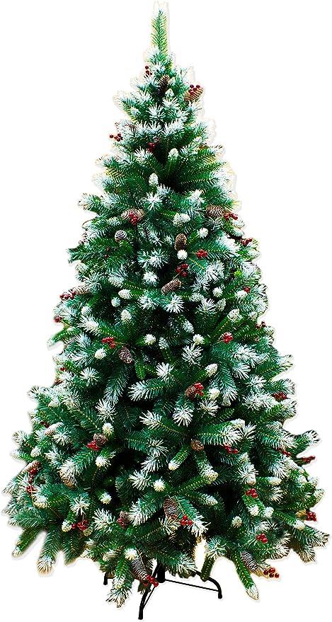 Albero Di Natale Con Pigne.Joy Christmas Albero Di Natale Canada 240 Cm Con Pigne Bacche E Neve Abete Ecologico Amazon It Casa E Cucina