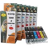 ESMOnline Multipack 6 komp. XL Druckerpatronen für Canon Pixma MG 7700 7750 7751 7752 7753 Ersatz 1 x PGI-570BK 1 x CLI-571BK 1 x CLI-571C 1 x CLI-571M 1 x CLI-571Y 1 x CLI-571GR