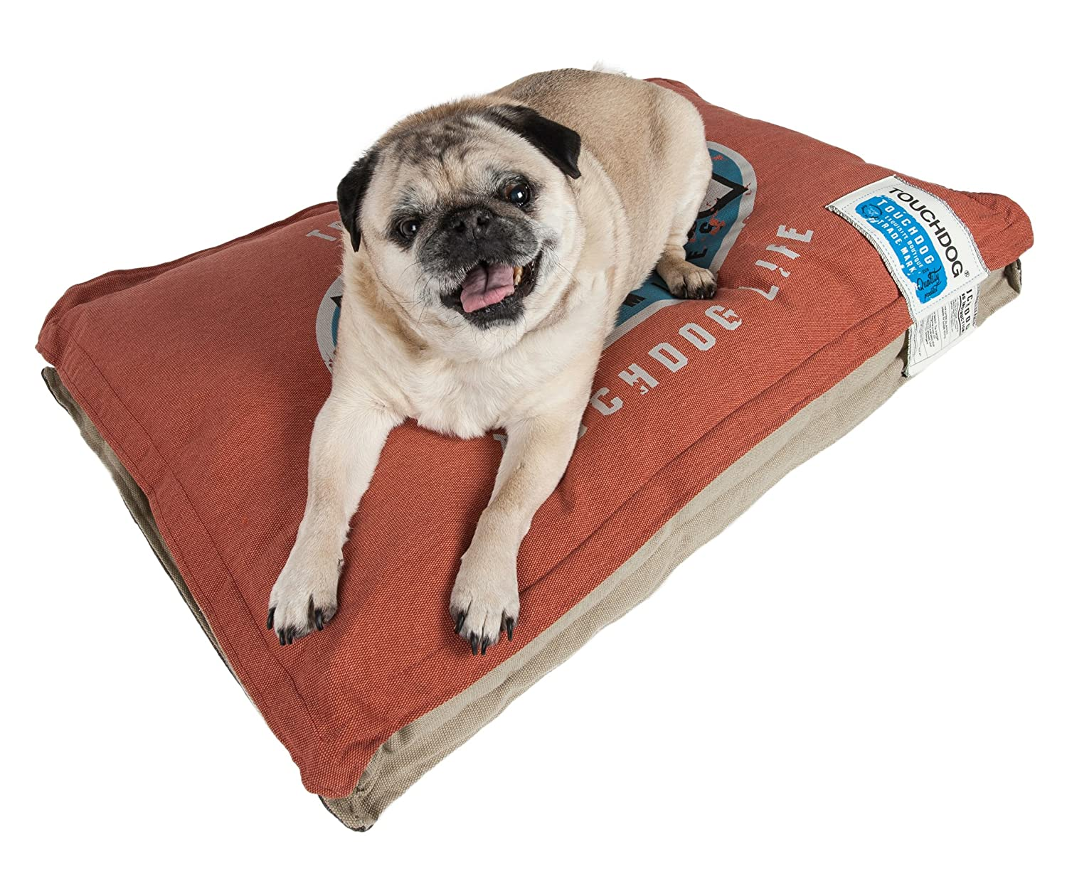 Grenadine, Mocha Brown LG Grenadine, Mocha Brown LG TOUCHDOG 'Shock-Stitched' Sporty Reversible Rectangular Ultra-Thick Pet Dog Bed Mat, Large, Grenadine, Mocha Brown