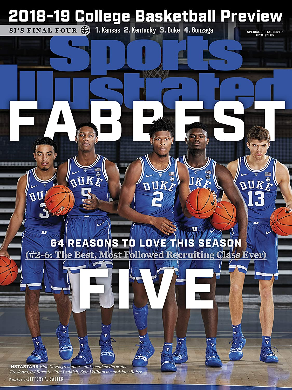 PosterWarehouse2017 Duke ON Huge 13x17 Sports Illustrated 2018-19 Basketball Preview Cover