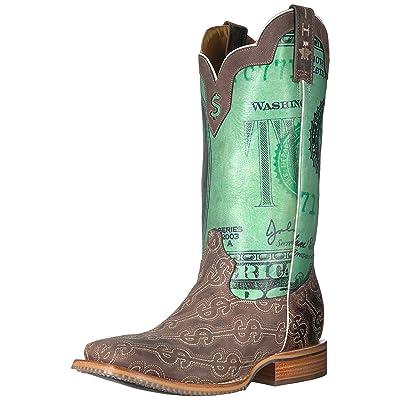 Tin Haul Shoes Men's Duece Western Boot, Brown, 9.5 D D US: Shoes