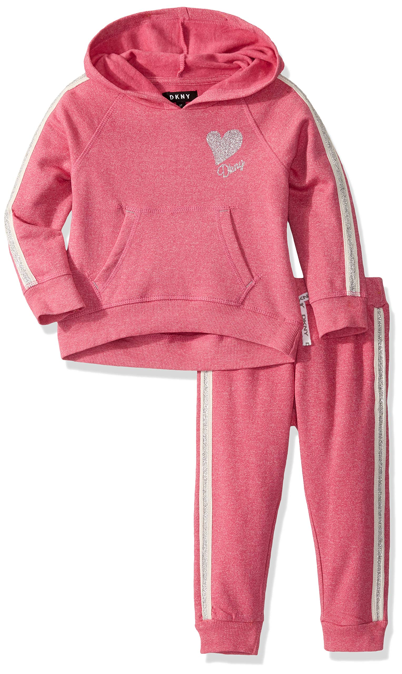 DKNY Girls' 2 Piece Hoodie Track Set