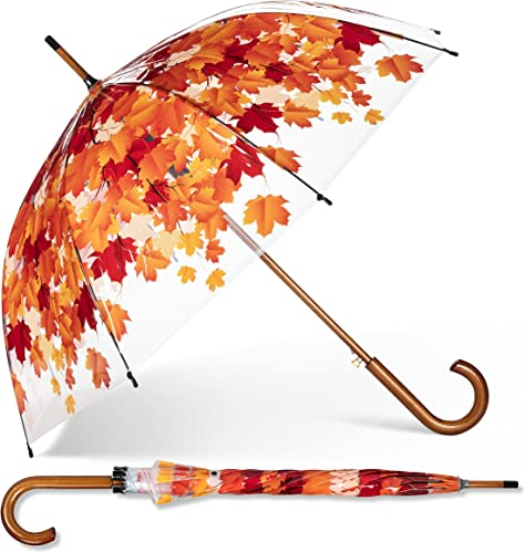 Abbott Collection 27 Autumn Leaves Bubble Umbrella-37 W