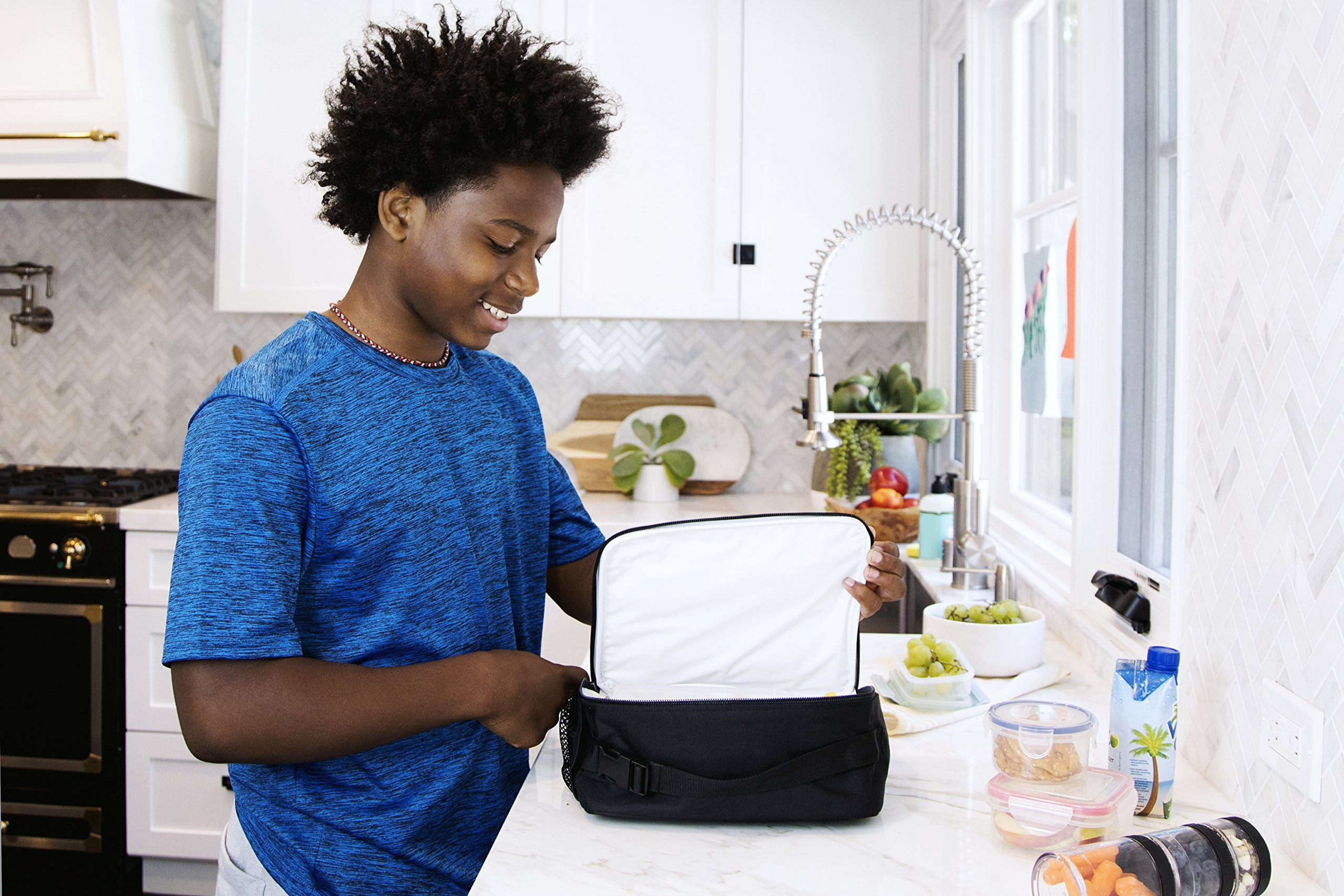 PackIt Freezable Classic Lunch Box, Black by PackIt (Image #6)