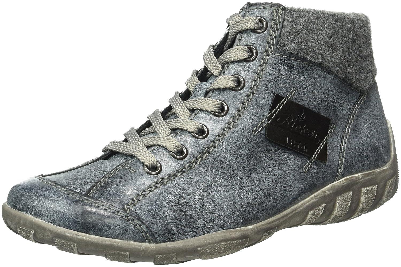 Rieker L6540 Zapatillas Altas de Deporte, para Mujer44 EU|Azul (Ozean/Granit/Schwarz)