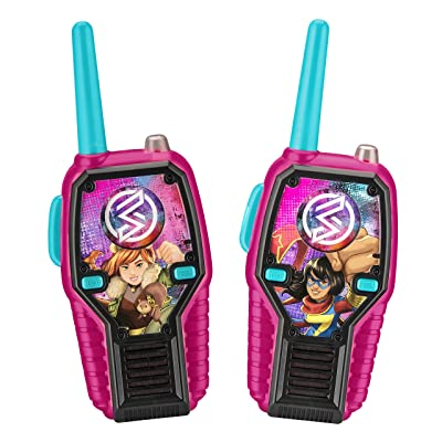Marvel Rising FRS Walkie Talkies for Kids with Lights and Sounds Kid Friendly Easy to Use: Electronics