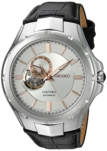 Seiko Men's SSA313 Stainless Steel and Leather Casual Watch