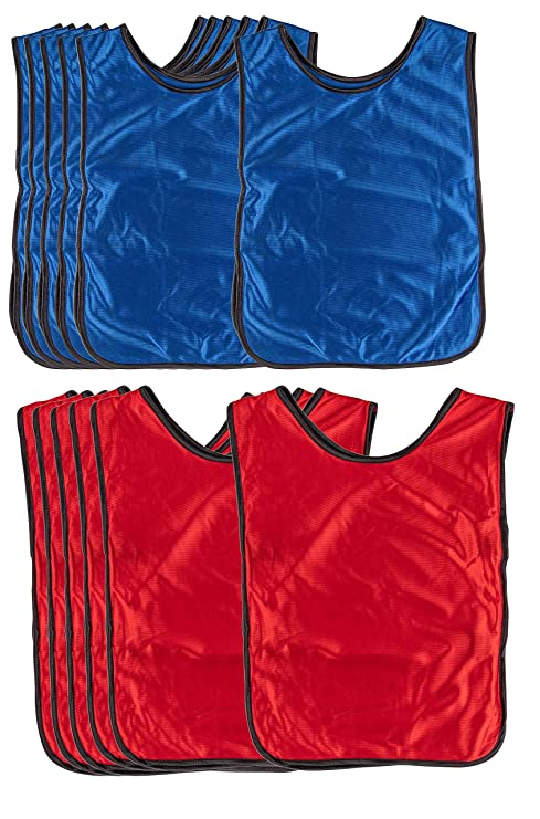 96a97301b9bd Amazon.com   Scrimmage Vests - 12-Pack Soccer Pinnies
