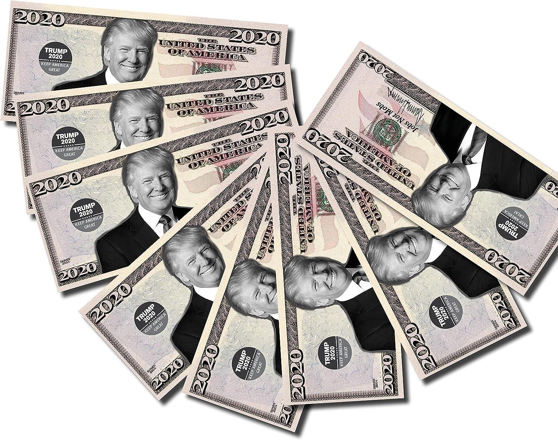 2 NEW Donald Trump President Money Fake Dollar Bills Legacy Note Million