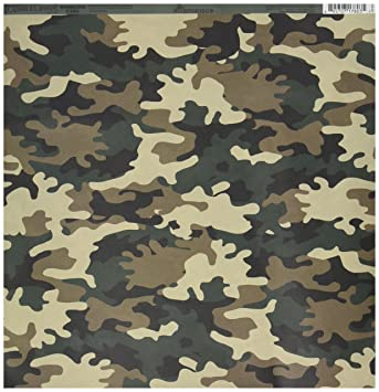 Amazon Reminisce Camouflaged 12 By 12 Inch Double Sided