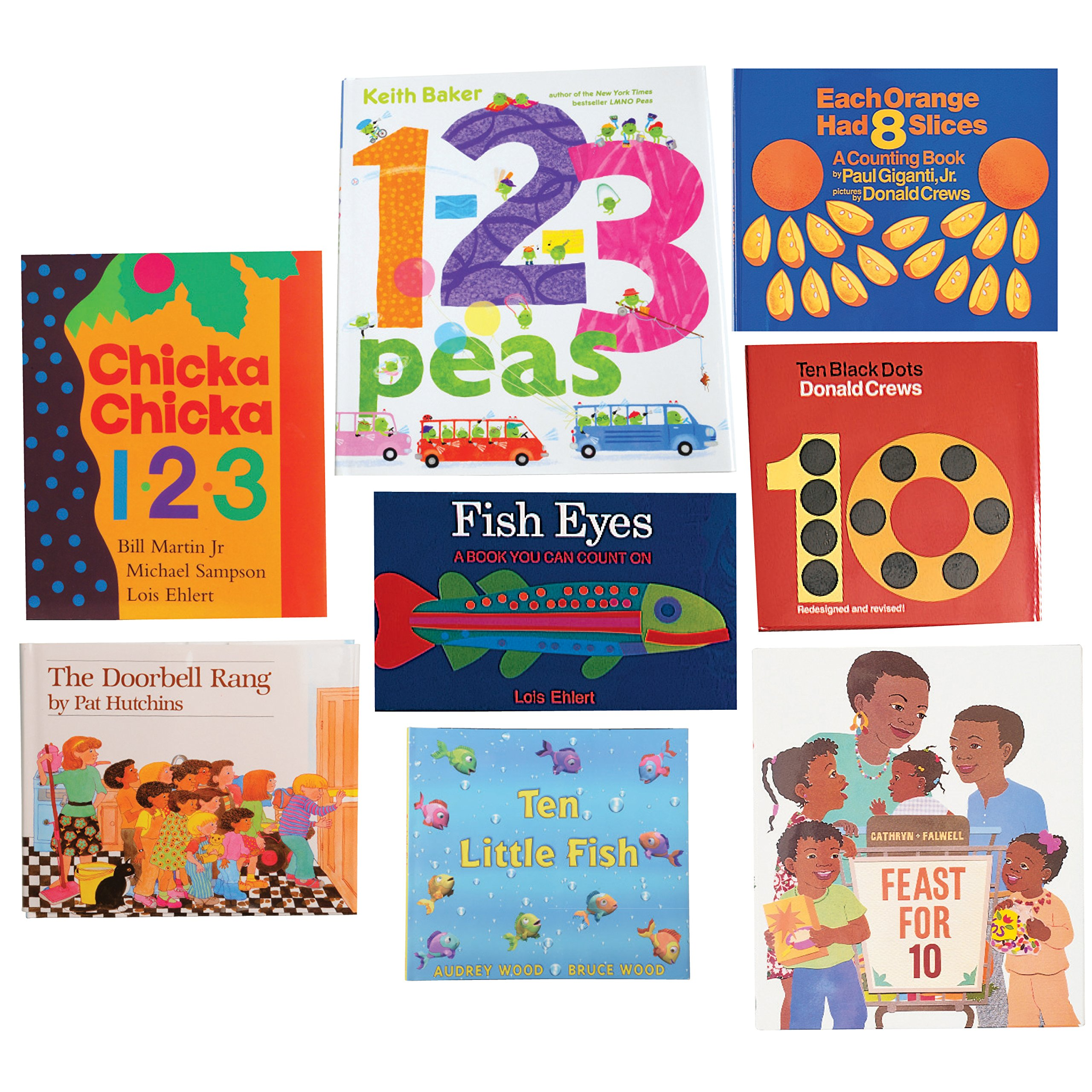 Constructive Playthings BOK-101 Storybooks with Math Concepts Hardcover Books, Grade: Kindergarten to 3, Set of 8