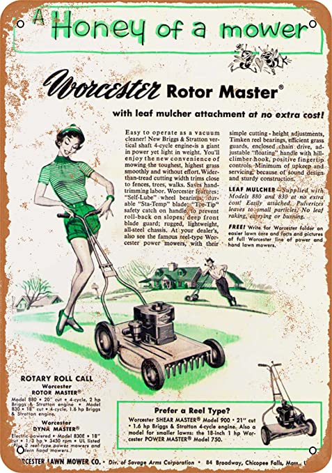 Amazon.com: 9 x 12 Metal Sign – 1954 Worcester Rotor Master ...