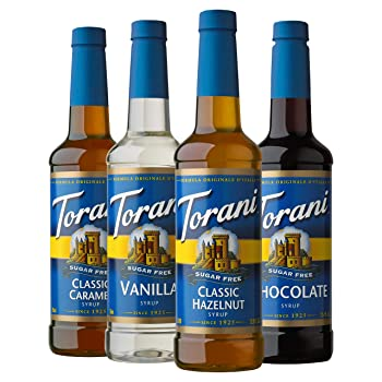 1Torani Sugar-Free With Variety Pack of Classic Flavors Coffee Syrup