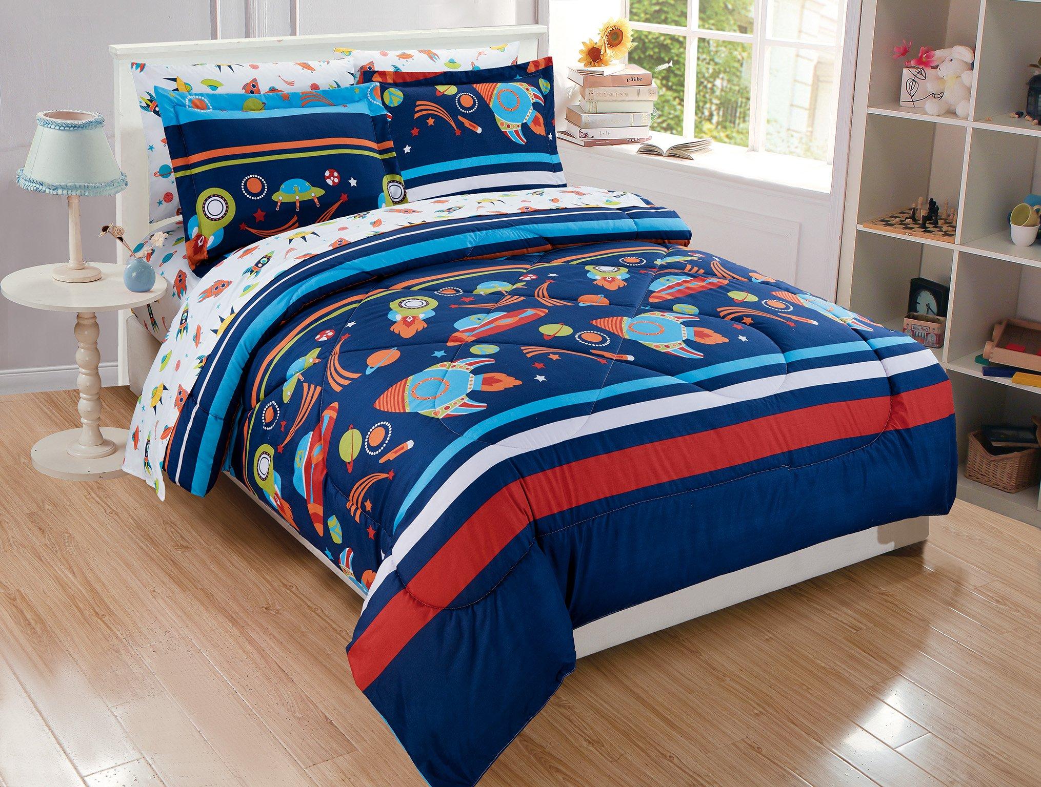 Micasa Kids Comforter Set Solar System Design (Full)