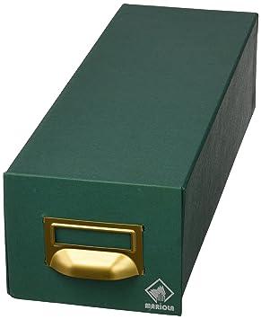 Mariola 1-1000 - Fichero cartón forrado en Geltex para 1000 fichas dimensiones 125 x 95 x 350 mm, color verde: Amazon.es: Oficina y papelería